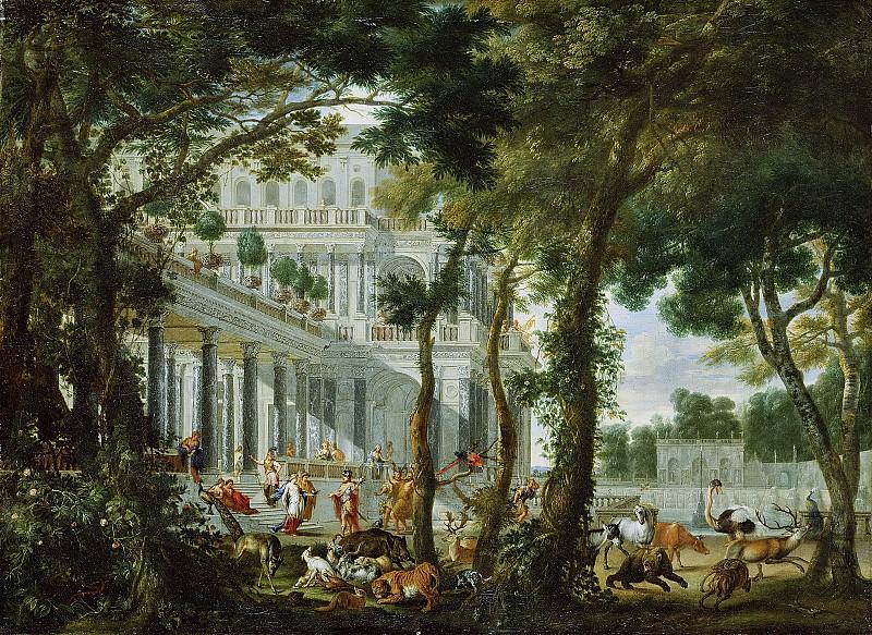 Эренберг Виллем Хуберт ван (Антверпен 1630-1676) - Одиссей во дворце Цирцеи (88х121 см) 1667. J. Paul Getty Museum
