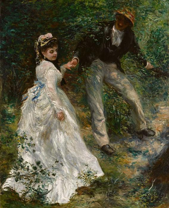 Ренуар Пьер-Огюст (1841 Лимож - 1919 Кань) - Променад (81х65 см) 1870. Музей Гетти