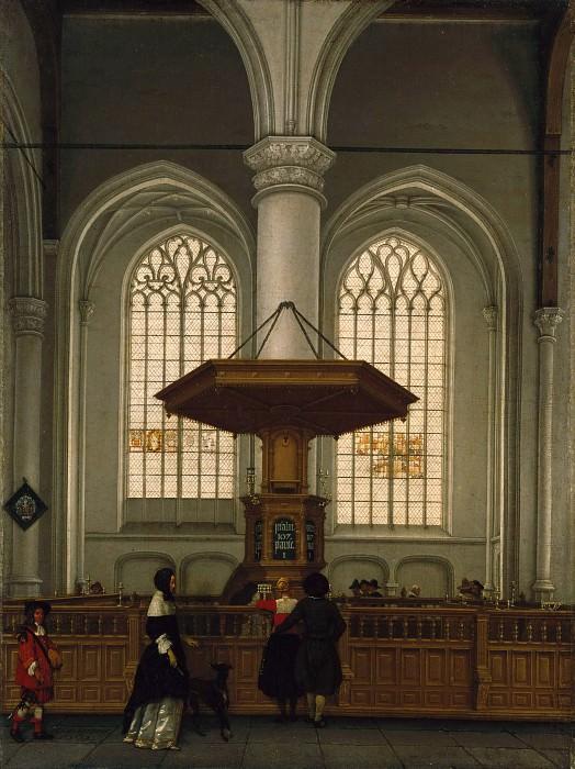 Лорм Антони де (ок1610 Турнэ - 1673 Роттердам) - Интерьер церкви св Лаврентия в Роттердаме (62х46 см) 1662. Музей Гетти