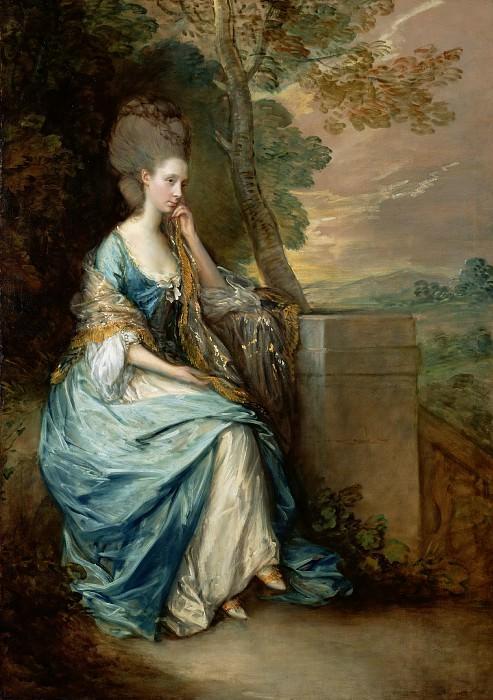 Гейнсборо Томас (1727 Садбери - 1788 Лондон) - Портрет Анны, графини Честерфилд (220х156 см) 1778. J. Paul Getty Museum