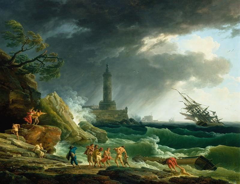 Верне Клод-Жозеф (1714 Авиньон - 1789 Париж) - Шторм у средиземноморского берега (113х145 см) 1767. J. Paul Getty Museum