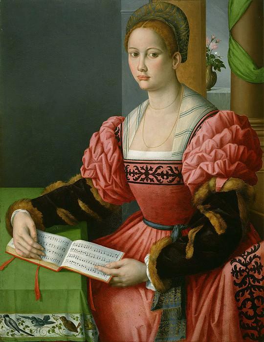 Баккьякка (Франческо Убертини) (Флоренция 1494-1557) - Женщина с нотной тетрадью (103х80 см) 1540-45. J. Paul Getty Museum