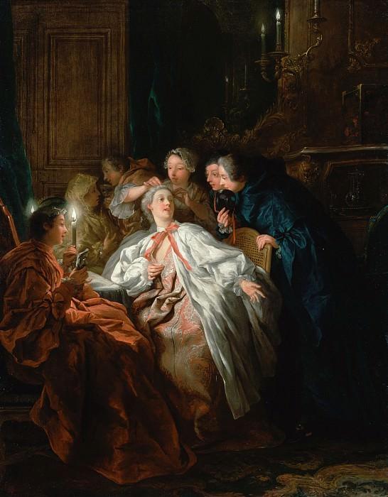 Труа Жан Франсуа де (1679 Париж - 1752 Рим) - Перед балом (82х65 см) 1735. J. Paul Getty Museum