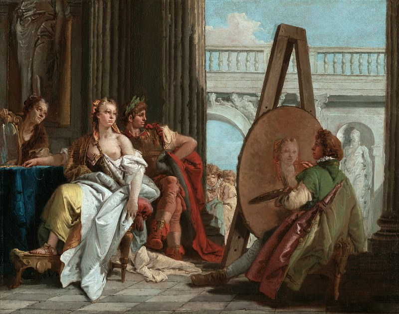 Alexander the Great and Campaspe in the Studio of Apelles. Giovanni Battista Tiepolo