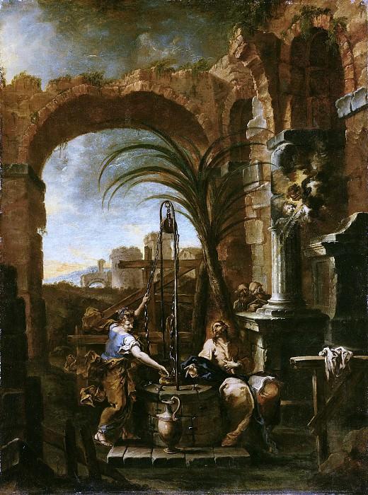 Маньяско Алессандро (прозв Лиссандрино) (Генуя 1667-1749) - Христос и самаритянка (145х109 см) 1705-10. Музей Гетти