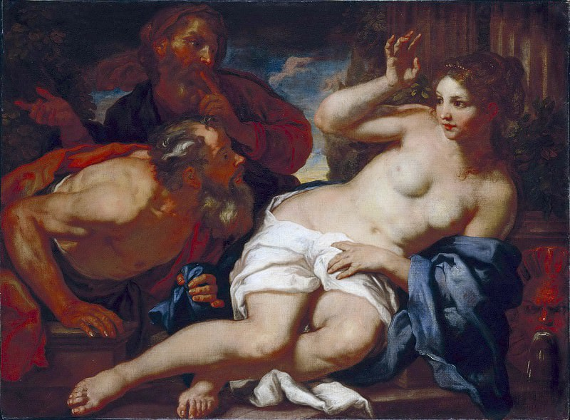 Лот Иоганн Карл (1632 Мюнхен - 1698 Венеция) - Сусанна и старцы (101х142 см) 1675-99. J. Paul Getty Museum