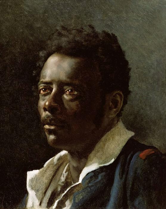 Жерико Теодор (1791 Руан - 1824 Париж) - Штудия портрета (46х38 см) ок1819. J. Paul Getty Museum