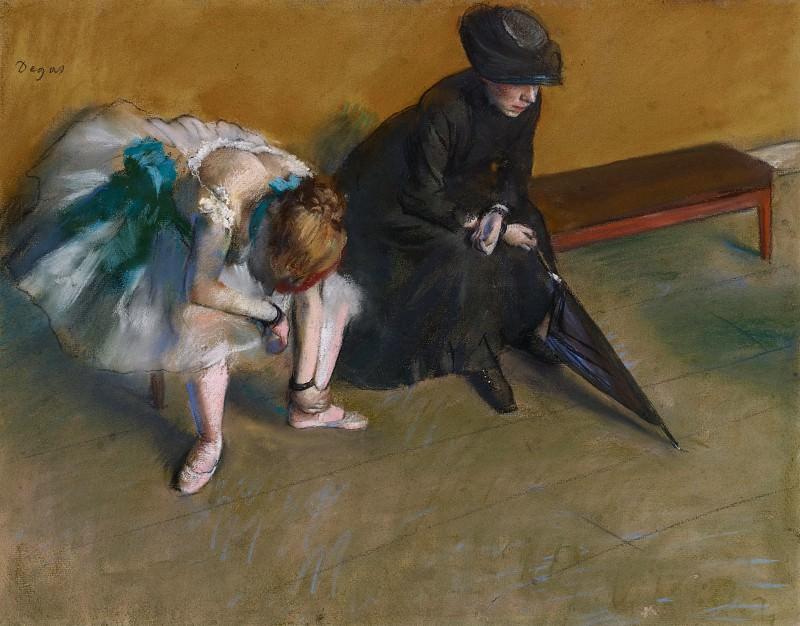 Дега Эдгар (Париж 1834-1917) - Ожидание (48х61 см) ок1882. J. Paul Getty Museum
