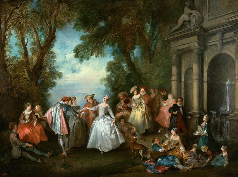 Ланкре Никола (Париж 1690-1743) - Танцы у фонтана (96х138 см) ок1724. J. Paul Getty Museum