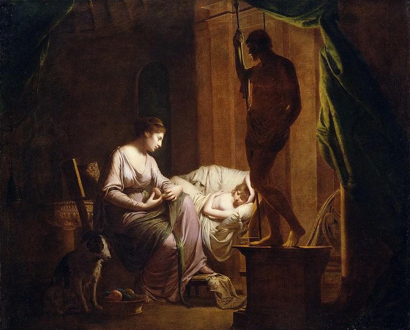 Райт Джозеф (Дерби 1734-1797) - Пенелопа распускает сотканное за день (105х131 см) 1784. J. Paul Getty Museum