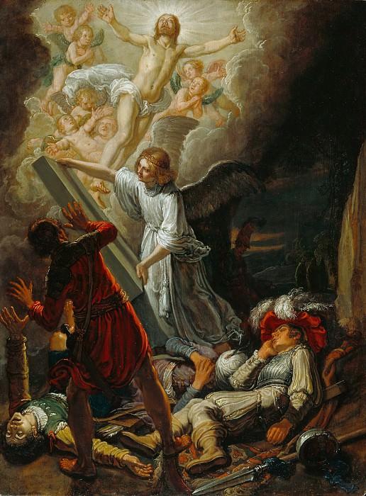 Ластман Питер Питерс (Амстердам 1583-1633) - Воскресение Христа (43х32 см) 1612. J. Paul Getty Museum