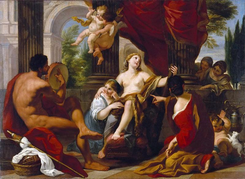 Гарци Луиджи (1638 Пистойя - 1721 Рим) - Геркулес и Омфала (98х134 см) 1700-10. Музей Гетти