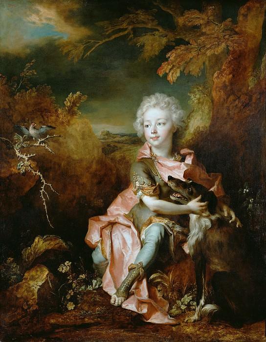Ларжильер Николя де (Париж 1656-1746) - Портрет мальчика с собакой (115х146 см) 1710-14. J. Paul Getty Museum