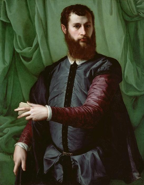 Сальвиати (Франческо де Росси) (1510 Флоренция - 1563 Рим) - Мужской портрет (109х86 см) 1544-48. J. Paul Getty Museum