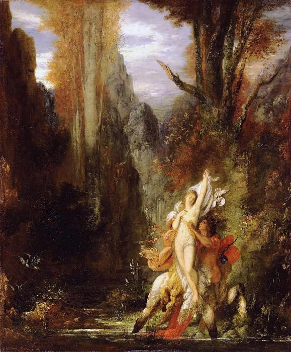 Моро Гюстав (Париж 1826 - 1898) - Деянира (осень) (55х45 см) ок1873. Музей Гетти