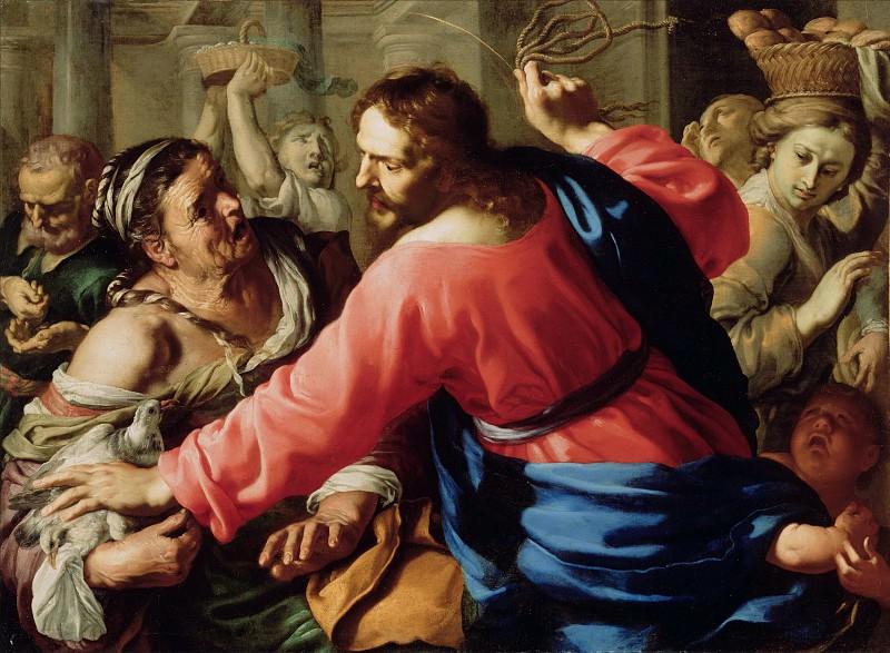 Меи Бернардино (1612 Сиена - 1676 Рим) - Изгнание торговцев из храма (104х141 см) 1650-е. J. Paul Getty Museum
