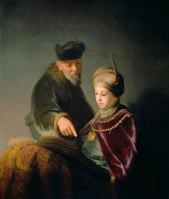 Рембрандт Харменс ван Рейн (1606 Лейден - 1669 Амстердам) - Принц Руперт Палатинский с учителем (103х88 см) ок1631 (приписывается). Музей Гетти