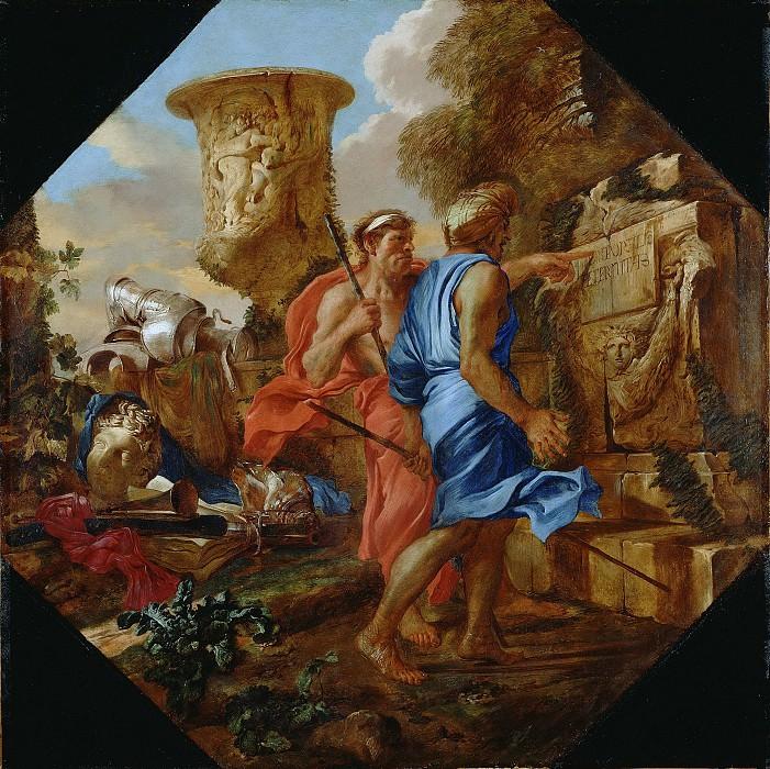 Кастильоне Джованни Бенедетто (Иль Грекетто) (1609 Генуя - 1664 Мантуя) - Аркадские пастухи (109х109 см) ок1655. J. Paul Getty Museum