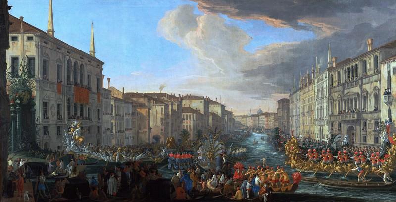 Карлеварис Лука (1663 Удине - 1730 Венеция) - Регата на Большом канале в Венеции в честь короля датского Фридриха IV (135х260 см) 1711. J. Paul Getty Museum