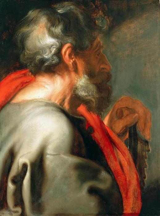Дейк Антонис ван (1599 Антверпен - 1641 Лондон) - Апостол Симон (64х48 см) ок1618. Музей Гетти