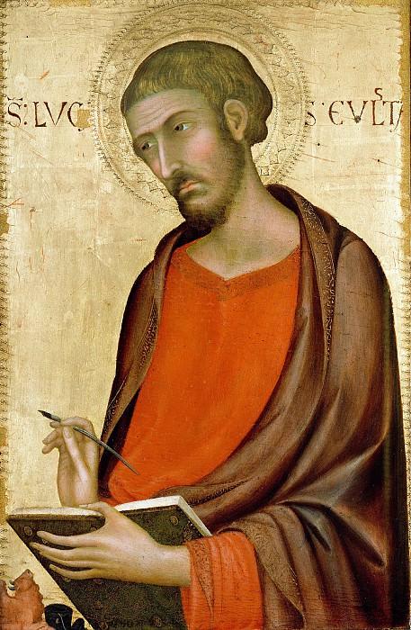 Мартини Симоне (ок1284 Сиена - 1344 Авиньон) - Св Лука (56х37 см) 1330-е. Музей Гетти