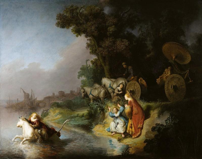 Рембрандт Харменс ван Рейн (1606 Лейден - 1669 Амстердам) - Похищение Европы (62х77 см) 1632. J. Paul Getty Museum