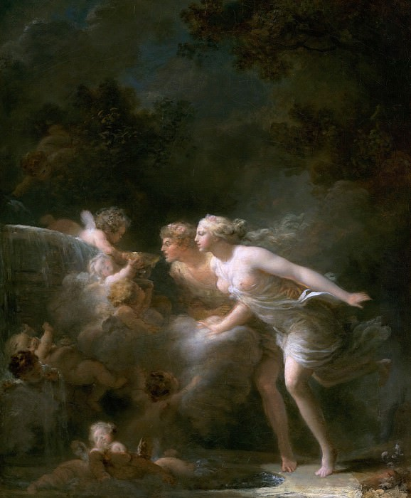 The Fountain of Love. Jean Honore Fragonard