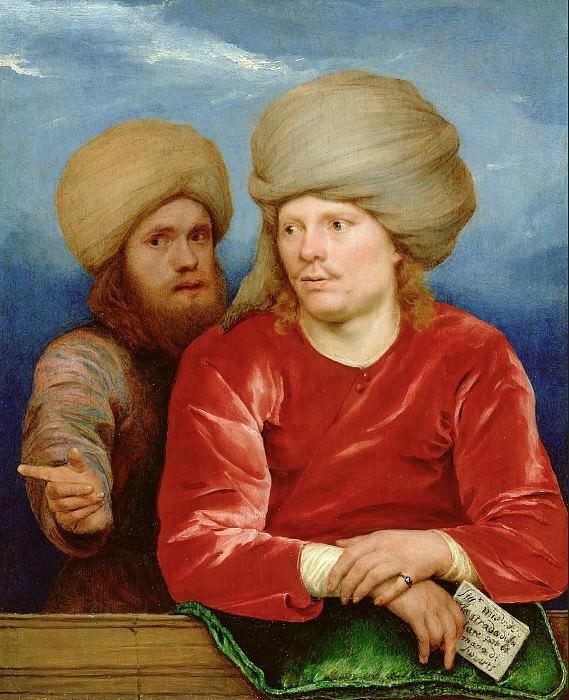 Свертс Михиль (1618 Брюссель - 1664 Гоа, Индия) - Двойной портрет (22х18 см) 1660-62. J. Paul Getty Museum