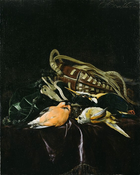 Альст Виллем ван (Делфт 1626-1683) - Натюрморт с битой птицей (45х37 см) 1674. J. Paul Getty Museum