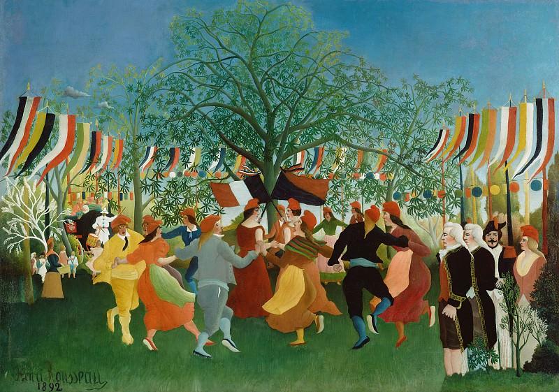 Руссо Анри (прозв Таможенник) (1844 Лаваль - 1910 Париж) - Столетие независимости (112х157 см) 1892. J. Paul Getty Museum
