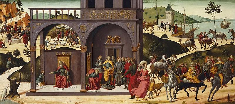 Бьяджо дАнтонио Туччи (Флоренция 1446-1515) - История Иосифа (66х149 см) ок1485. J. Paul Getty Museum