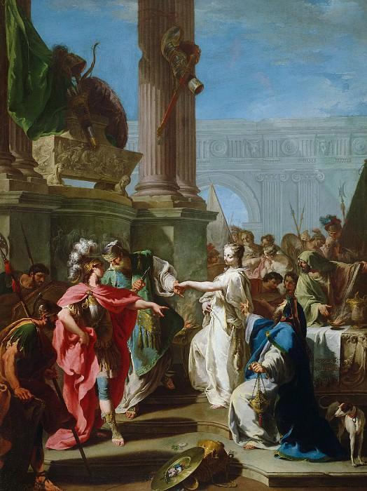 Питтони Джованни Баттиста (Венеция 1687-1767) - Жертвоприношение Поликсены (128х95 см) ок1734. J. Paul Getty Museum