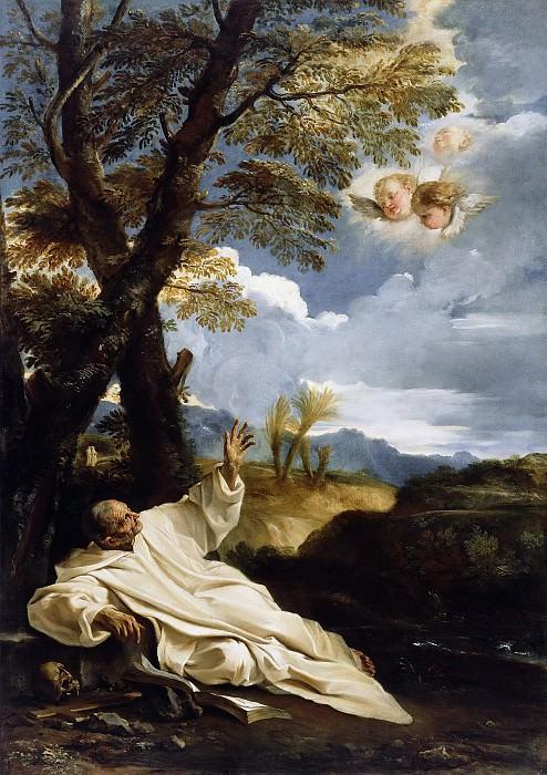 Мола Пьер Франческо (1612 Кальдрерио (Комо) - 1666 Рим) - Видение св Бруно (194х137 см) ок1660. J. Paul Getty Museum