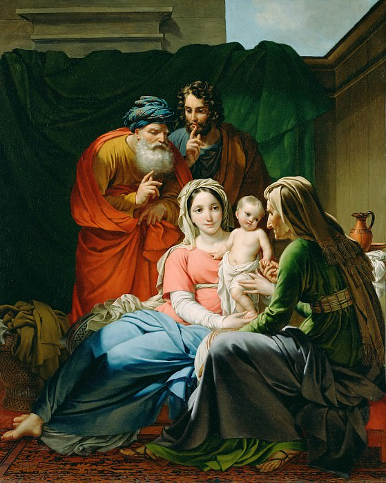 Палинк Жозеф (1781 Остакер - 1839 Иксель) - Святое Семейство (96х66 см) ок1820. Музей Гетти