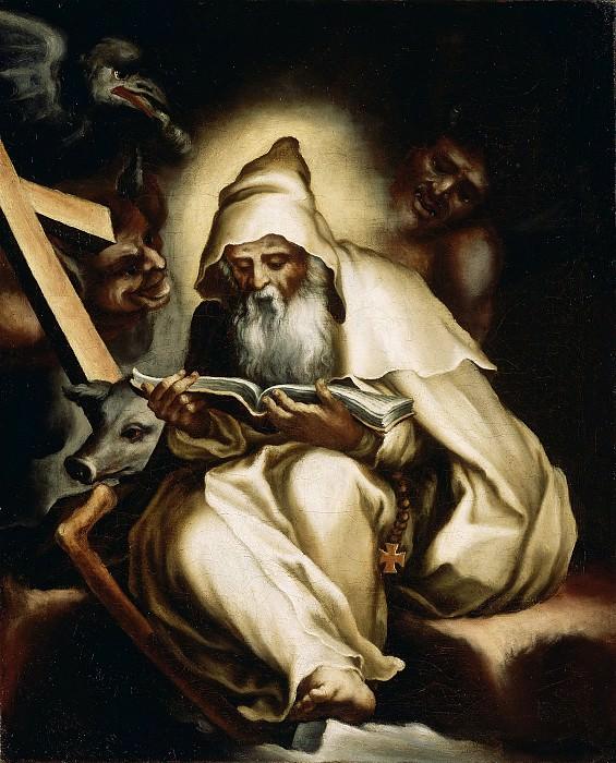 Орси Лельо (Новеллара 1511-1587) - Искушение св Антония (44х36 см) 1570-е. Музей Гетти
