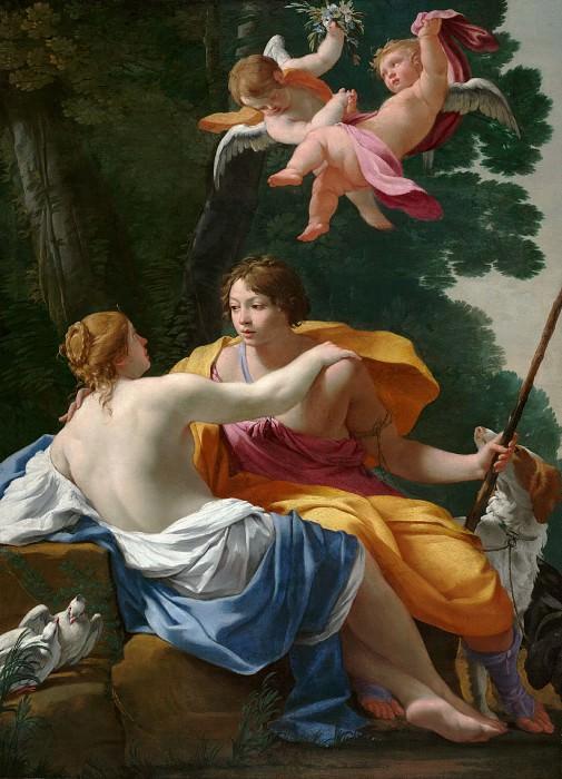 Вуэ Симон (Париж 1590-1649) - Венера и Адонис (130х94 см) ок1642. J. Paul Getty Museum