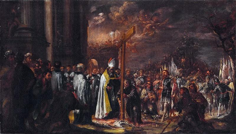 Вальдес Леаль, Хуан де (Севилья 1622-1690) - Праздник воздвижения креста (61х108 см) ок1680. J. Paul Getty Museum