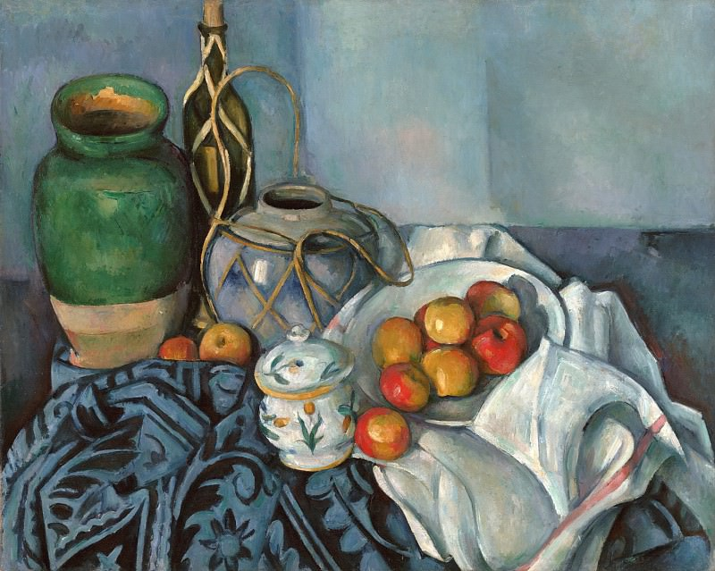 Сезанн Поль (Экс-ан-Прованс 1839-1906) - Натюрморт с яблоками (65х81 см) 1893-94. J. Paul Getty Museum