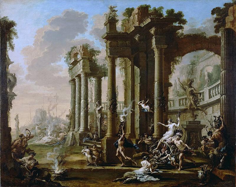 Маньяско Алессандро (прозв Лиссандрино) (Генуя 1667-1749) - Триумф Венеры (118х148 см) 1720-е. Музей Гетти