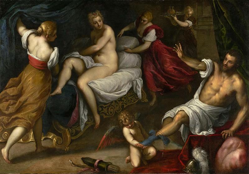 Пальма иль Джоване (Якопо Негретти) (Венеция 1544-1626) - Венера и Марс (205х143 см) 1605-09. Музей Гетти