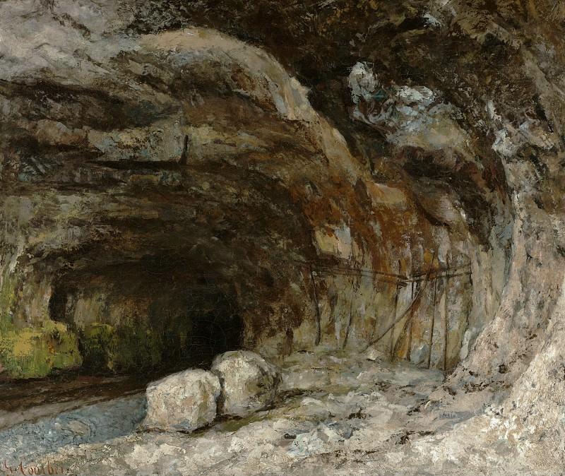 Курбе Гюстав (1819 Орнан - 1877 Ла Тур де Пейлц близ Веве, Швейцария) - Пещера сарацинов близ Нан-су-Сент-Анн (50х60 см) ок1864. J. Paul Getty Museum