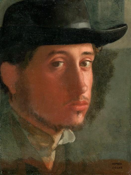Дега Эдгар (Париж 1834-1917) - Автопортрет (21х17 см) ок1858. J. Paul Getty Museum