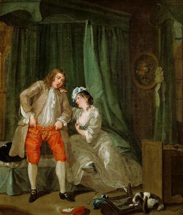 Хогарт Вильям (Лондон 1697-1764) - После (39х34 см) 1731. J. Paul Getty Museum