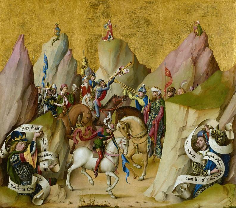 Мастер св Варфоломея алтаря (раб в Кельне 1480-1510) - Встреча трех королей (63х71 см) ок1480. J. Paul Getty Museum