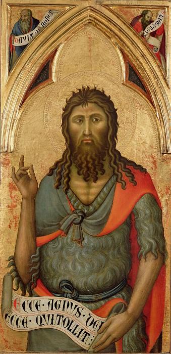 Лука ди Томме (работал в 1356-89 в Сиене) - Иоанн Креститель (100х49 см) 1390-е. Музей Гетти