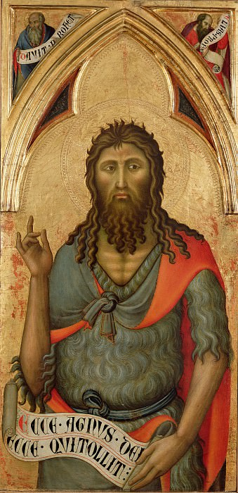 Лука ди Томме (работал в 1356-89 в Сиене) - Иоанн Креститель (100х49 см) 1390-е. J. Paul Getty Museum