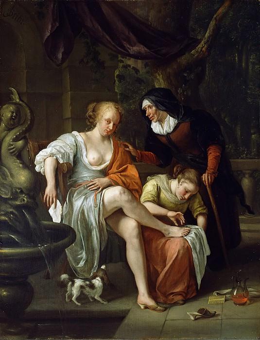 Стен Ян Хавикс (Лейден 1626 - 1679) - Вирсавия после купания (58х45 см) 1665-70. J. Paul Getty Museum