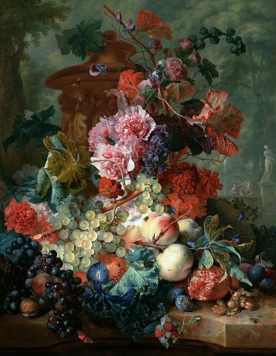 Хейсум Ян ван (Амстердам 1682-1749) - Фрукты и цветы (79х61 см) 1722. J. Paul Getty Museum