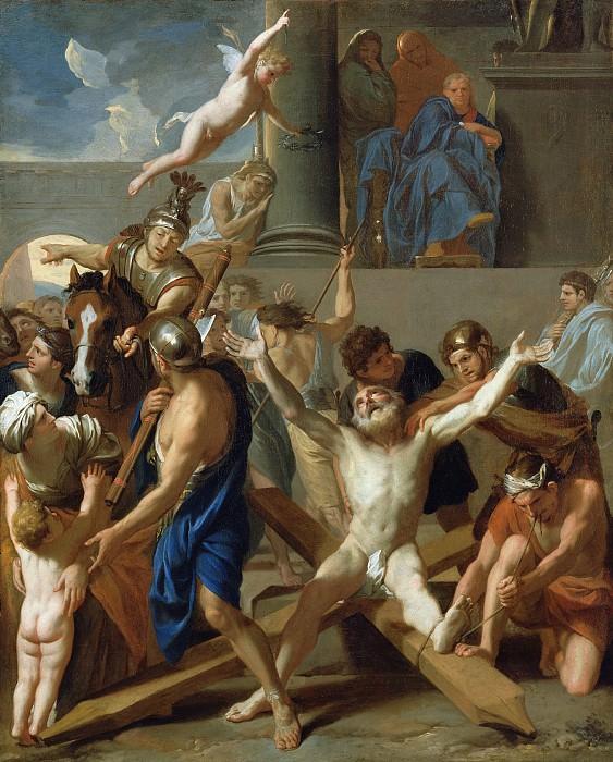 Лебрен Шарль (Париж 1619-1690) - Мученичество св Андрея (98х80 см) 1647. Музей Гетти