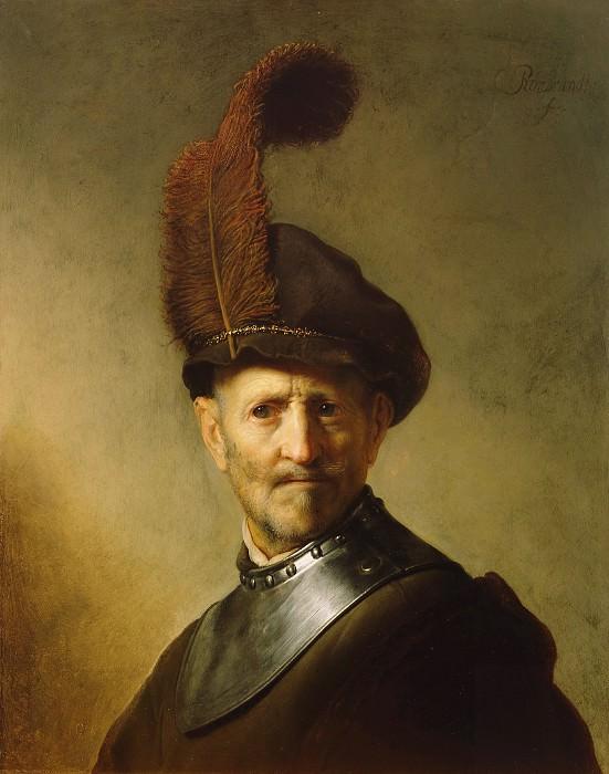 Рембрандт Харменс ван Рейн (1606 Лейден - 1669 Амстердам) - Старик в военной одежде (66х51 см) ок1631. J. Paul Getty Museum